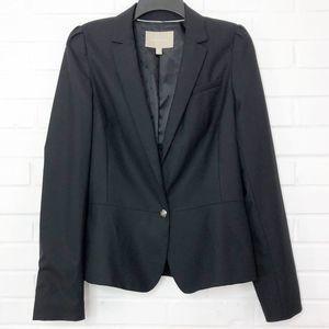 Banana Republic 1 Button Blazer Black Size 12 Tall